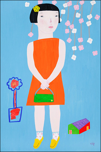 신철, 그여자, 91x60.6cm(30M), acrylic, 2012