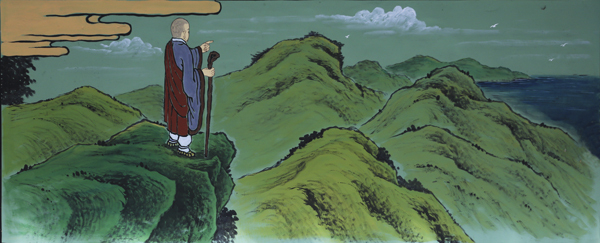 신라로 돌아와 절지을 좋은 땅을 찾아 나선 의상대사
