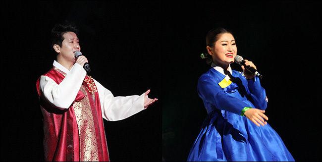 중국 연변가무단 수석 가수인 강화ㆍ최려령 부부가 아름다운 화음으로 부르는 경상도아리랑, 기쁨의 아리랑, 장백산아리랑